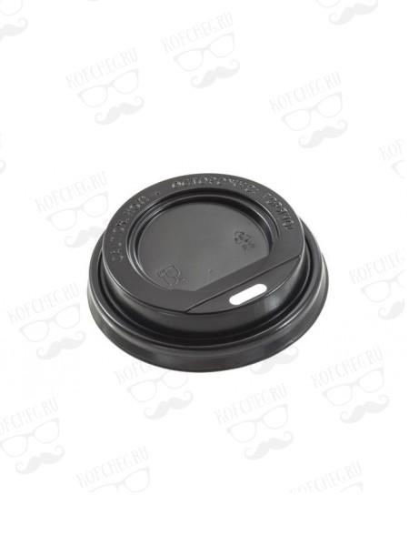 Крышка для бумажных стаканов с питейником 63 мм (Черная)