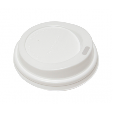 Крышка для бумажных стаканов с питейником 72 мм (Белая)