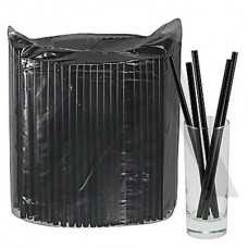 Трубочки прямые черные 240*8 мм