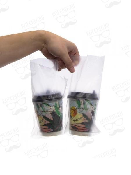 Пакет переноска для двух стаканов