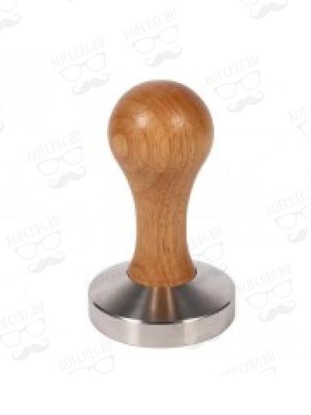 Темпер пресс для кофе стальной с деревянной ручкой, 57, 58 мм