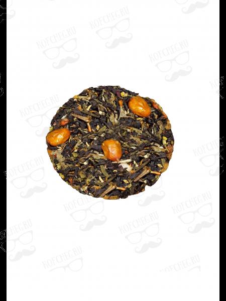 С облепихой и имбирем  Чай на основе черного