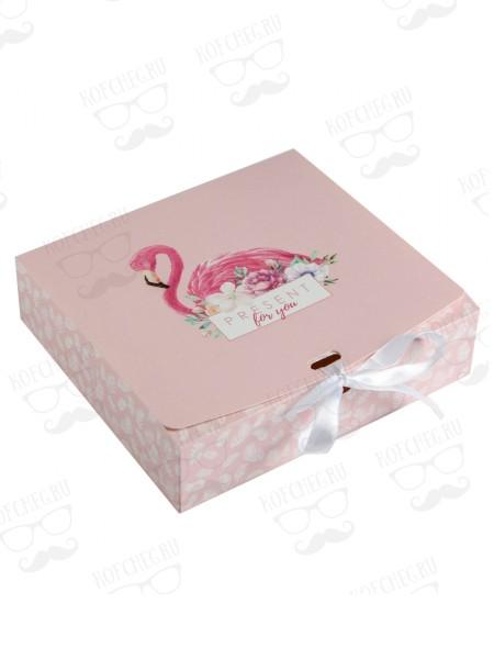 """Подарочный набор 2 вида кофе по 250 гр """"Фламинго"""""""
