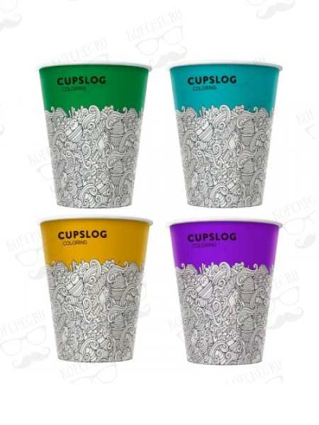 Стакан бумажный одноразовый 300 мл. CUPSLOG ICE CREAM
